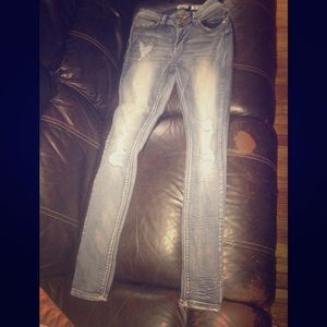 Pants - Faded distressed jeans skinny